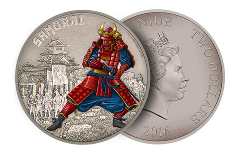 1 Oz Silver Warriors of History-Samurai Coin .999