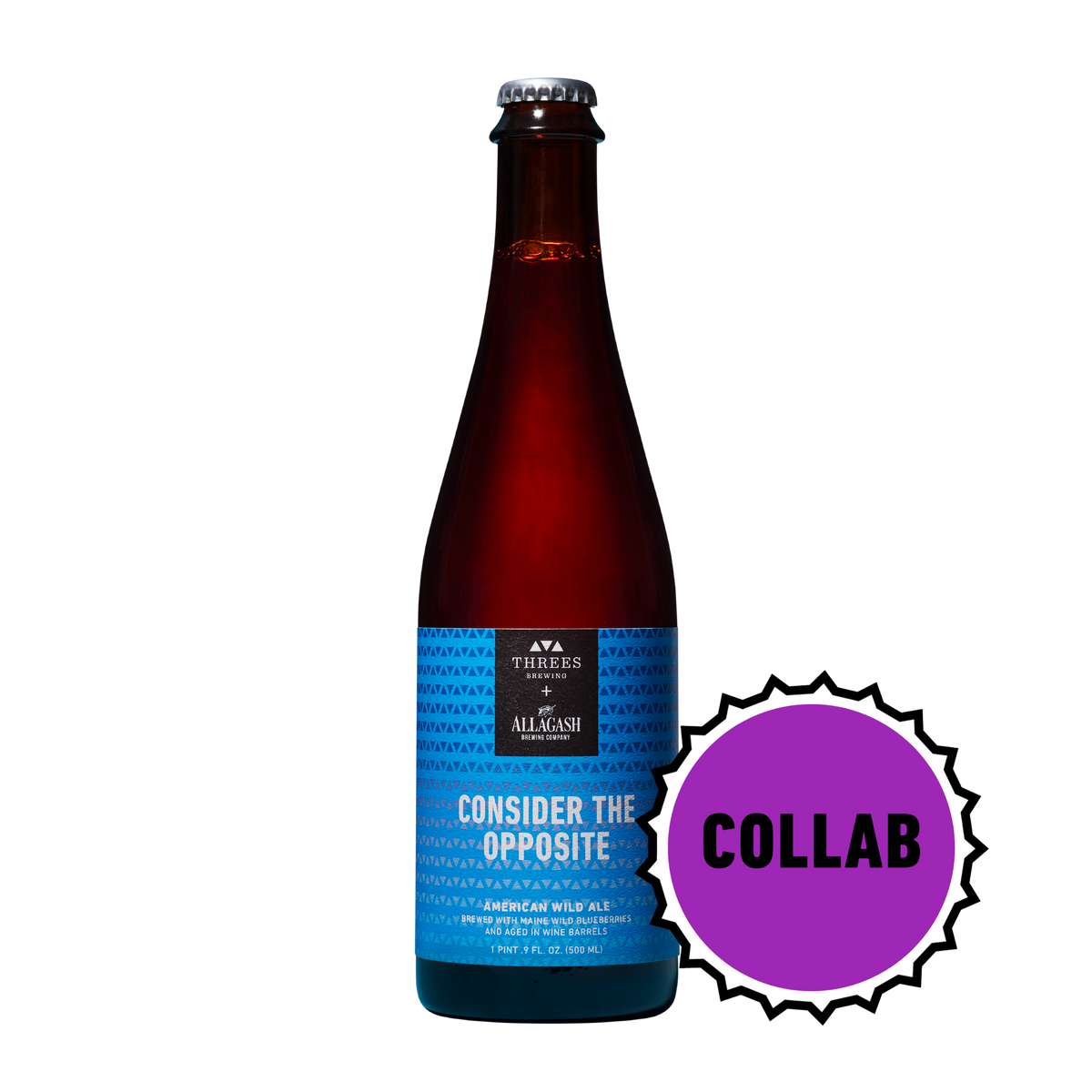 Consider the Opposite: Collaboration with Allagash Brewing (Wild Ale with Blueberries) 500ml