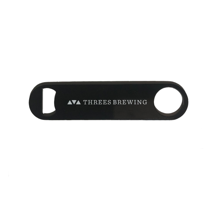 Large Pocket Bottle Opener- Threes Logo Design