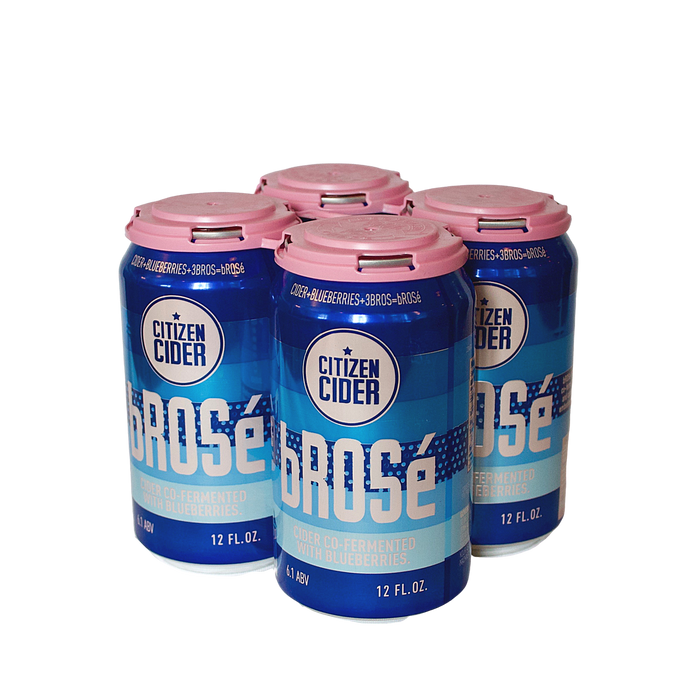 Citizen Cider bRosé (Blueberry Rosé Cider) 4-Pack