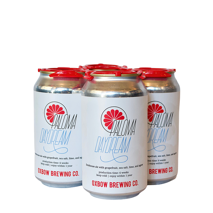 Oxbow Paloma Daydream 4-Pack (Farmhouse Ale with Grapefruit, Sea Salt, Lime & Agave)