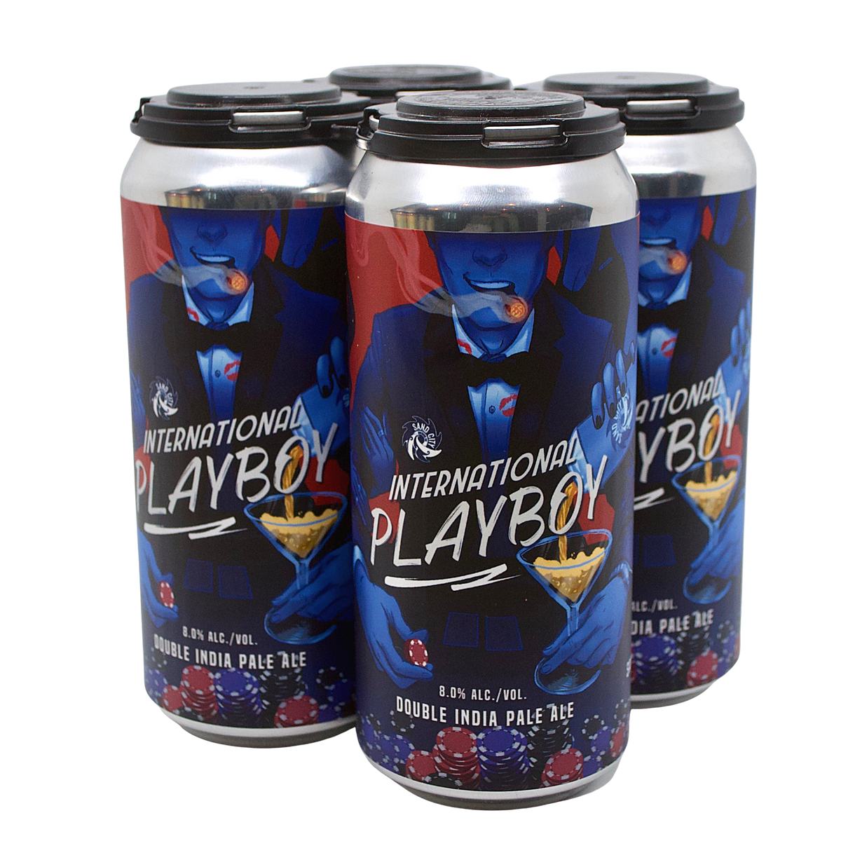 Sand City International Playboy 4-Pack (Double IPA)