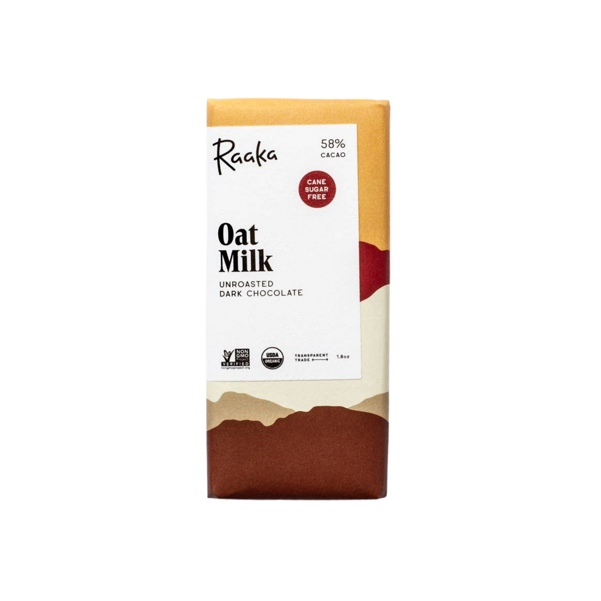 Raaka Chocolate Oat Milk Bar 1.76oz