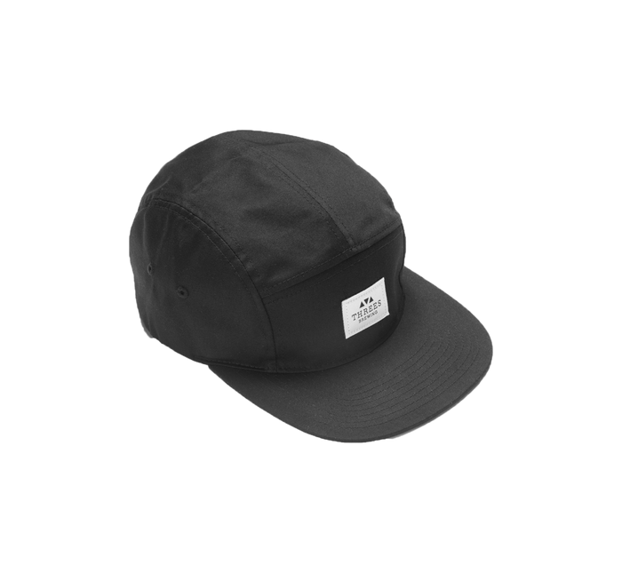 5-Panel Logo Hat (Black)