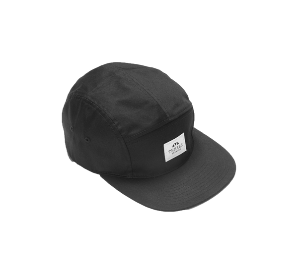 Full Logo Black 5 Panel Hat