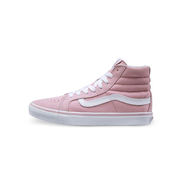 Original-Vans-New-Arrival-Pink-Color-High-Top-Women-039-s-Skateboarding-Shoes-Sport