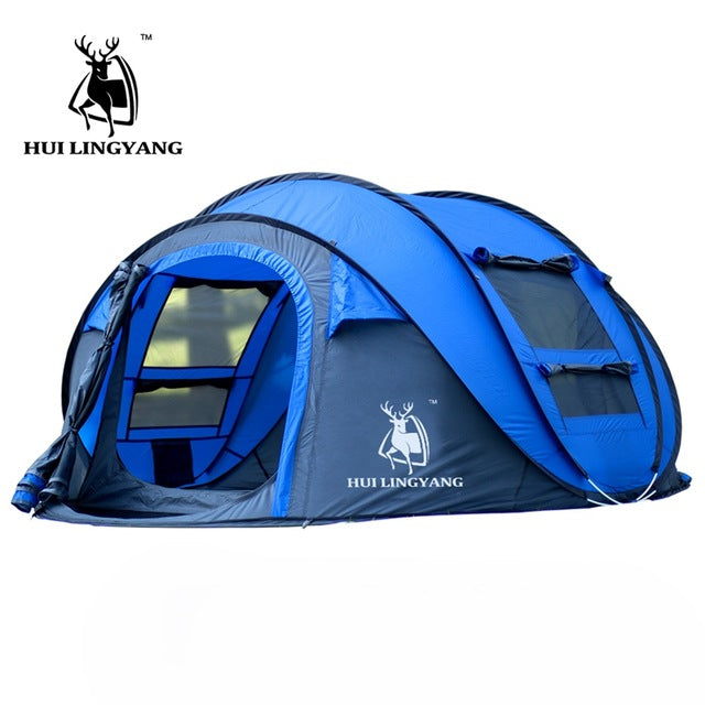 HLY-Large-throw-tent-outdoor-3-4persons-automatic-  sc 1 st  eBay & HLY Large throw tent!outdoor 3-4persons automatic speed open ...