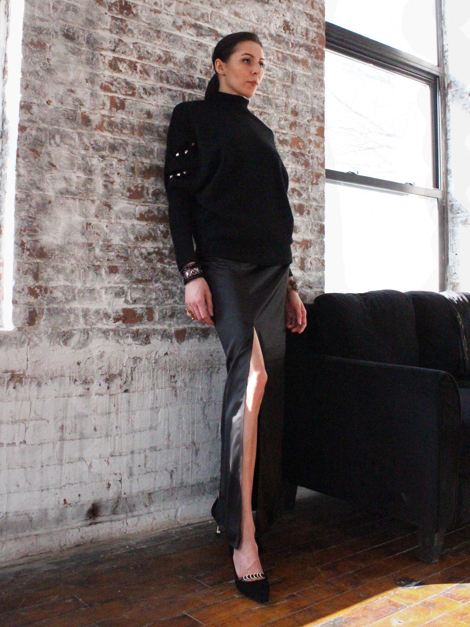 Ying Cai _ AW20 Look 2 Sweater 1