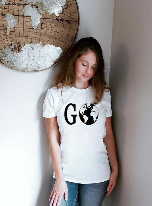 Go Travel Womens Graphic World Shirt