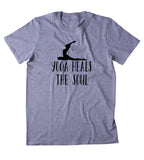 Yoga Heals The Soul Shirt Spiritual Yogi Lotus Meditate Meditation Clothing Tumblr T-shirt