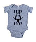 I Like Big Racks Baby Bodysuit Funny Hunt Hunting Family Newborn Infant Kids Girl Boy Baby Shower Gift Clothing
