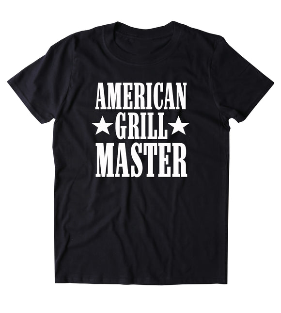 American Grill Master Shirt BBQ Barbecue Party USA America Merica Grilling T-shirt