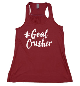 Goal Crusher Tank Top Mom Life Strong Boss Mama Gift Flowy Racer Back Womens Shirt