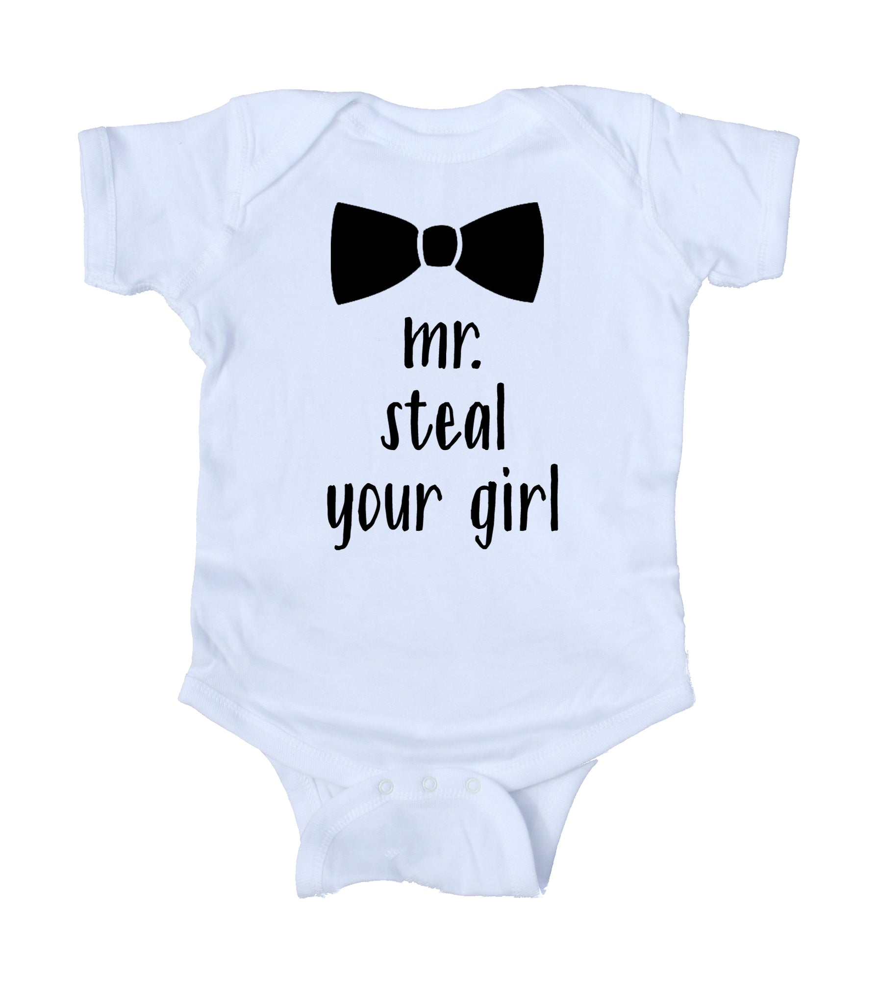 96518acaca33 ... Mr Steal Your Girl Baby Bodysuit Funny Cute Boy Newborn Gift Baby  Shower Infant Clothing