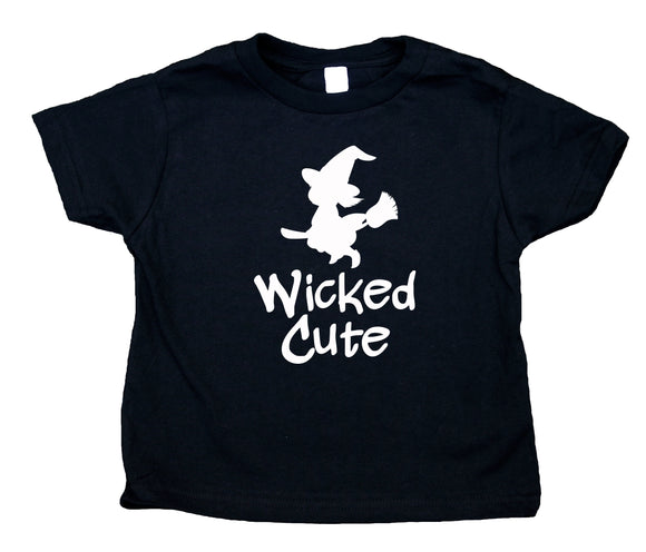 Wicked Cute Toddler Shirt Witch Halloween Fall Girl Kids Clothing