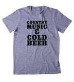 Country Music & Cold Beer Shirt Country Southern Party Redneck Merica T-shirt