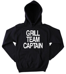 Barbeque Sweatshirt Grill Team Captain Hoodie Funny BBQ Grilling Merica Tumblr Jumper