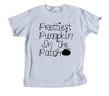 Prettiest Pumpkin In The Patch Youth Shirt Funny Cute Fall Halloween Girls Kids Clothing T-shirt
