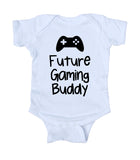 Future Gaming Buddy Baby Bodysuit Funny Boy Dad Newborn Gift Baby Shower Infant Clothing