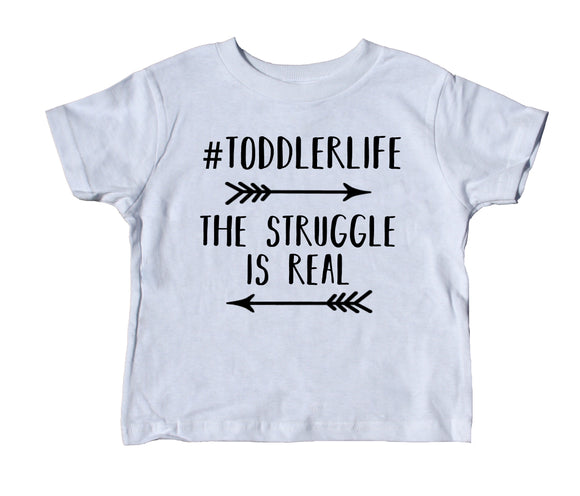 Toddlerlife The Struggle Is Real Toddler Shirt Cute Arrow Boy Girl Clothing