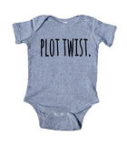 Plot Twist Baby Bodysuit Pregnancy Announcement Boy Girl Infant Clothing