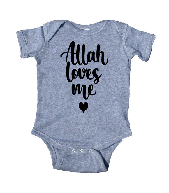 Allah Loves Me Baby Girl Boy Onesie