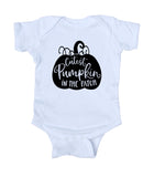 Cutest Pumpkin In The Patch Baby Boy Girl Fall Onesie White