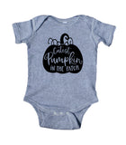Cutest Pumpkin In The Patch Baby Boy Girl Fall Onesie Grey