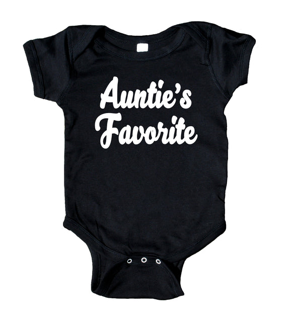 Auntie's Favorite Baby Boy Girl Onesie Black