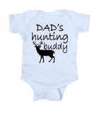 Dad's Hunting Buddy Baby Bodysuit Hunter Family Boy Newborn Infant Gift Clothing