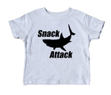 Snack Attack Toddler Shirt Shark Boys Girls Clothing