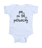 Pee On The Patriarchy Baby Onesie Feminist Girl Power Clothing