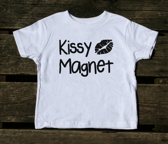Kissy Magnet Toddler Shirt Funny Cute Sweet Boy Girl Kids Clothing