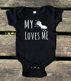 My Aunt Loves Me Baby Onesie Funny Girl Boy Clothing
