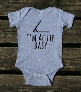 I'm A Cute Baby Baby Bodysuit Funny Geek Nerd Newborn Infant Girl Boy Baby Shower Gift Clothing