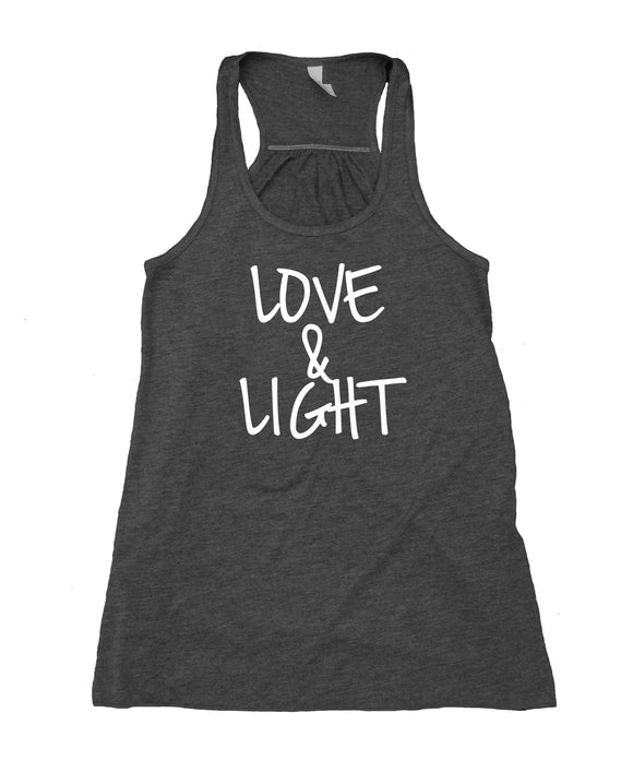 Love And Light Tank Top Spiritual Yoga Meditation Hippie Inspirational Flowy Racerback Tank
