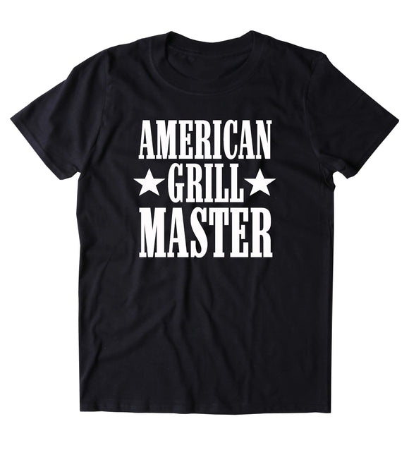American Grill Master Shirt BBQ Barbecue America Merica Grilling T-shirt