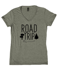 Travel Shirt Road Trip West Coast Van Life Travelling V-Neck T-Shirt