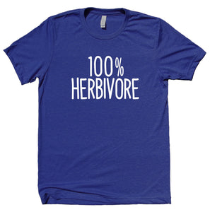 100% Herbivore Shirt Funny Vegan Vegetarian Plant Eater Animal Right Activist Clothing T-shirt