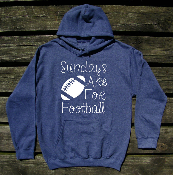 Sundays Are For Football Hoodie Fall Autumn Game Day Family Wife Mom Sweatshirt