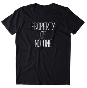 Property Of No One Shirt Soft Grunge Sarcastic Independent Sassy Rude Clothing T-shirt