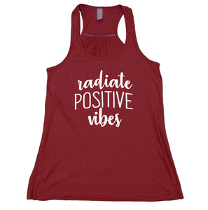 Radiate Positive Vibes Tank Top Inspirational Yoga Positive Affirmation  Racerback Statement Tank