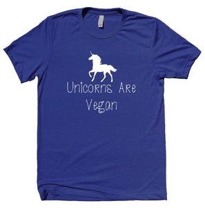 Unicorns Are Vegan Shirt Funny Veganism Plant Based Diet T-shirt