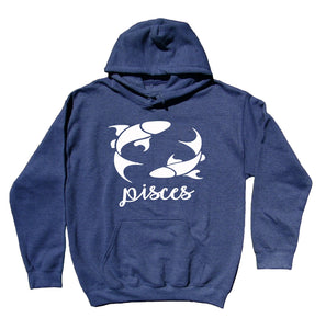 Pisces Horoscope Symbol Hoodie Zodiac Sign Astrological February March Birthday Sweatshirt