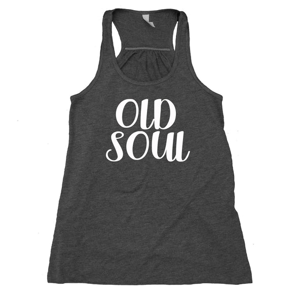 Old Soul Tank Top Hippie Boho Yoga Flowy Racerback Statement Tank