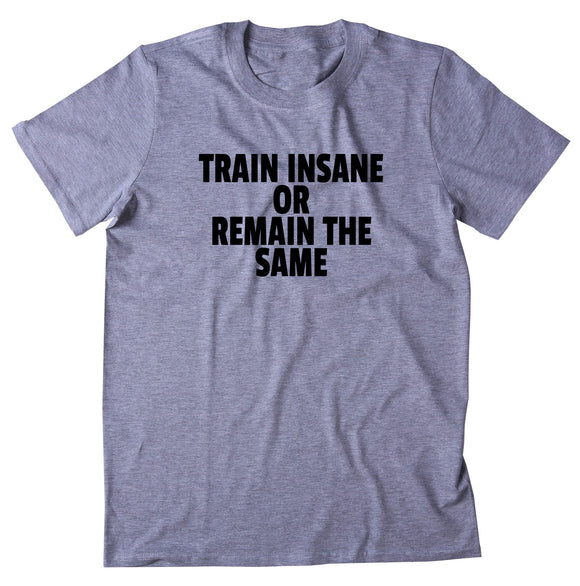 Train Insane Or Remain The Same Shirt Funny Gym Work Out Running Exercise T-shirt