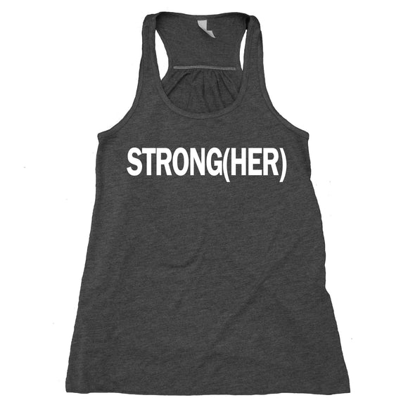 Strong(her) Tank Top Work Out Lifting Gym Women's Racerback Tank