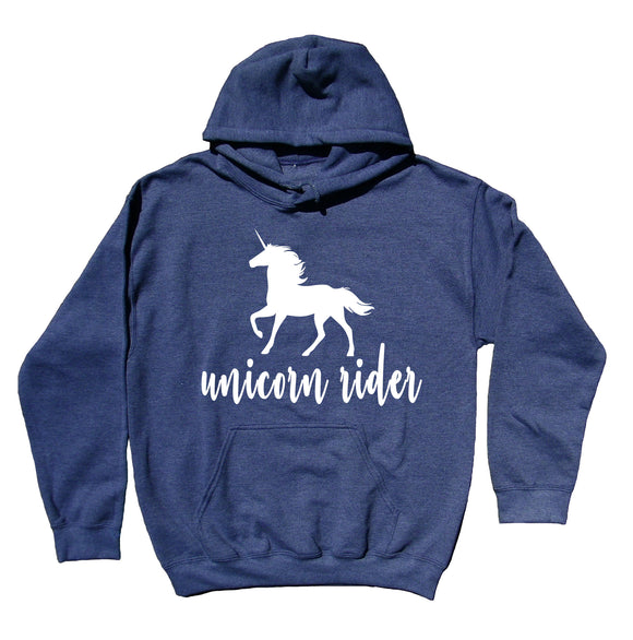 Unicorn Lover Women's Sweatshirt Unicorn Rider Hoodie