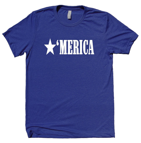 Merica Shirt Funny American Patriotic Pride Freedom Southern T-shirt