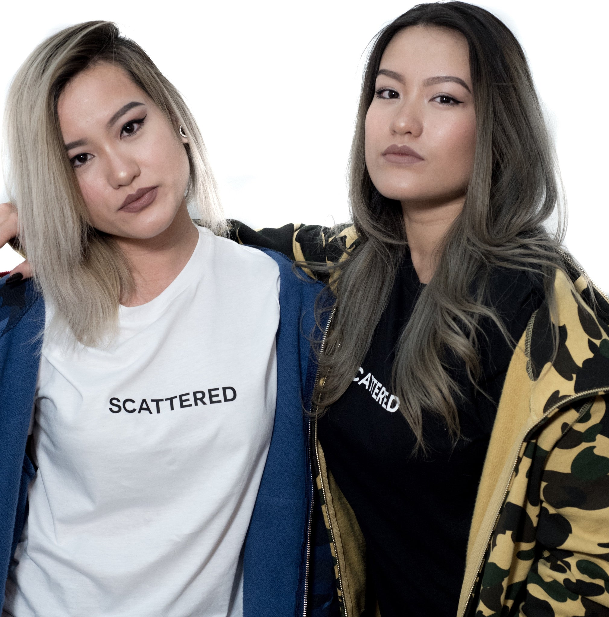 Streetwear-White Hand Sewn Logo Tee-Shirts-Scattered, LLC